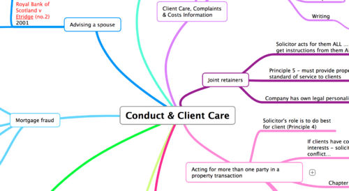 CONDUCT AND CLIENT CARE