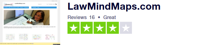 LawMindMaps is rated Great for law degrees LLB BPTC LPC CILEX GDL SQE